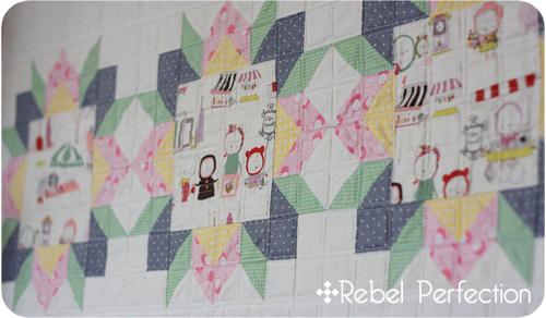Banner Quilt Front Closeup