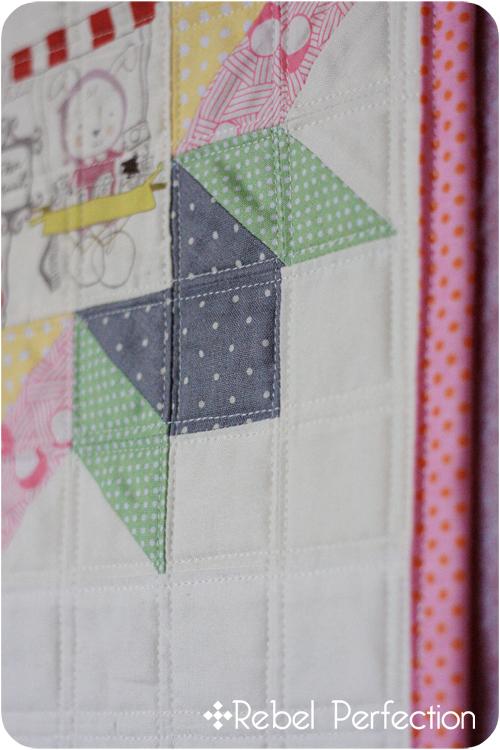 Banner Quilting Closeup