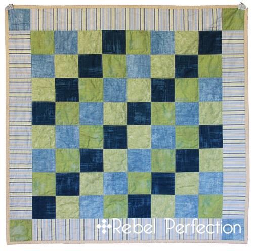 Blue Blocks Quilt Front