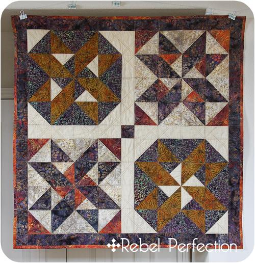 Batik XO quilt front