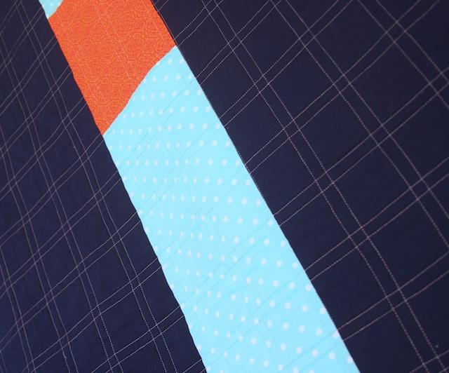 Back angle Blue outline log cabin