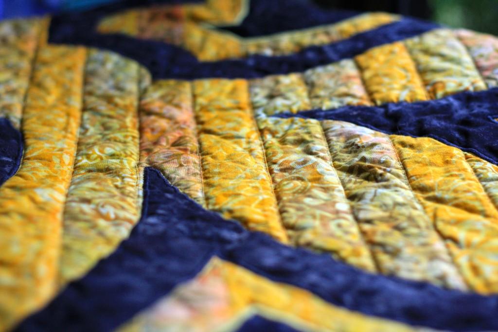 New Orleans Saints Quilt Detail 2