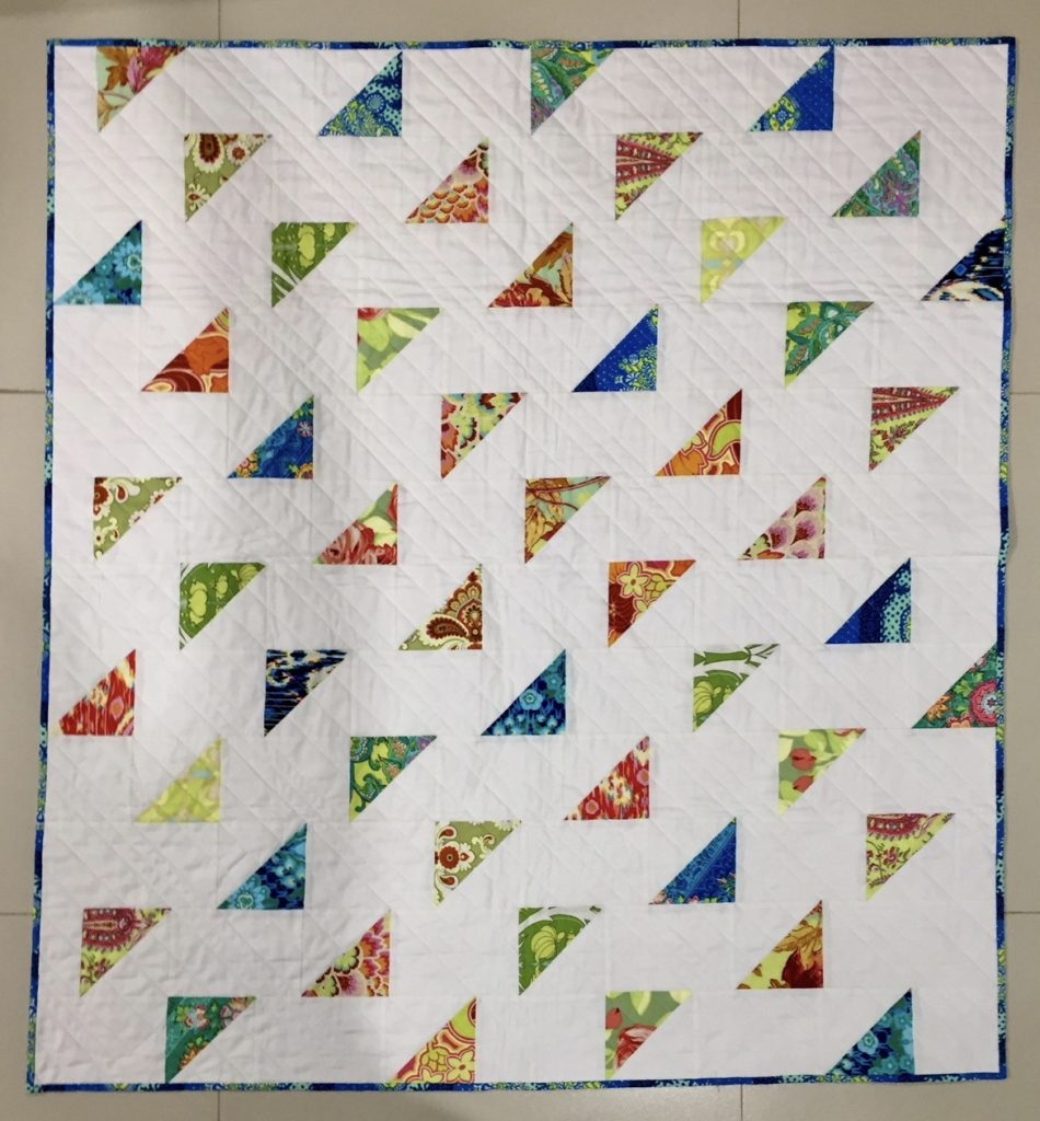 Baby Quilt Patterns.Flying Triangles Baby Quilt Pattern Rebel Perfection